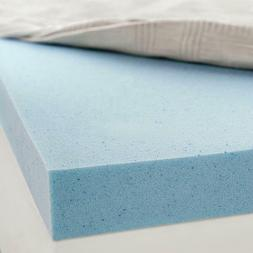 """Gel Memory Foam Mattress Topper 3"""" helps cool, relax and rel"""