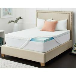 """Sealy 3"""" Cool Gel-Infused Memory Foam Mattress Topper with C"""