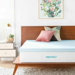 LINENSPA 3 Inch Gel Infused Memory Foam Mattress Topper - Ki