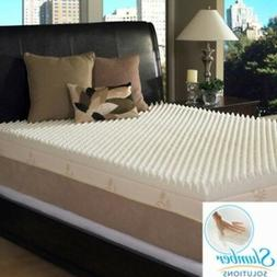 Slumber Solutions 4 inch Memory Foam Mattress Toppers Bed To