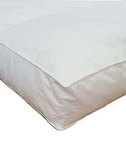 "4"" Cal King Goose Down Mattress Topper Featherbed / Feather"