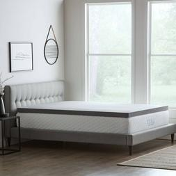 LUCID Comfort Collection Bamboo Charcoal Memory Foam Mattres