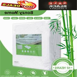 Mattress Cover Topper Bed Protector Premium Bamboo Waterproo