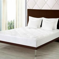 """Cal King Quilted Mattress Pad Protector Topper Cover 16"""" Dee"""