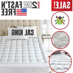 Cal King Size Mattress Pad Cover Pillow Top Topper Bed Breat