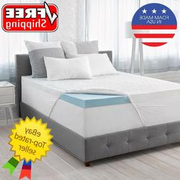 "Serta Calm 3"" Gel Memory Foam Mattress Topper Various Sizes"