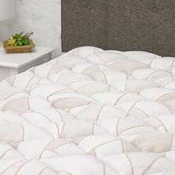 eLuxurySupply Copper Infused Mattress Pad with Fitted Skirt