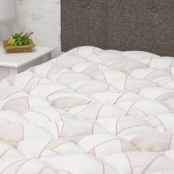 Copper Infused Mattress Topper with Fitted Skirt - Extra Plu