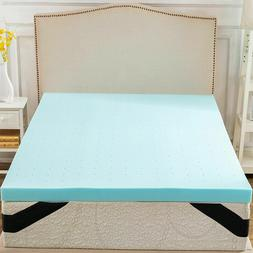 Gel Memory Foam Mattress Topper 3 Inch -Ful Queen King Twin