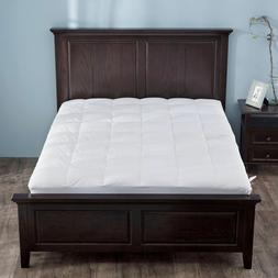 hotel quality down mattress pad topper quilted