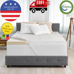 "Serta Ideal Temperature 3"" Memory Foam Mattress Topper-Vario"
