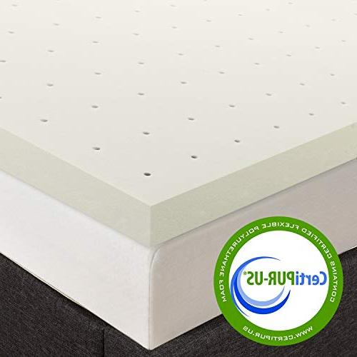 """Best Price Mattress 2.5"""" Topper with Certipur-US Ventilated Twin Long Size"""