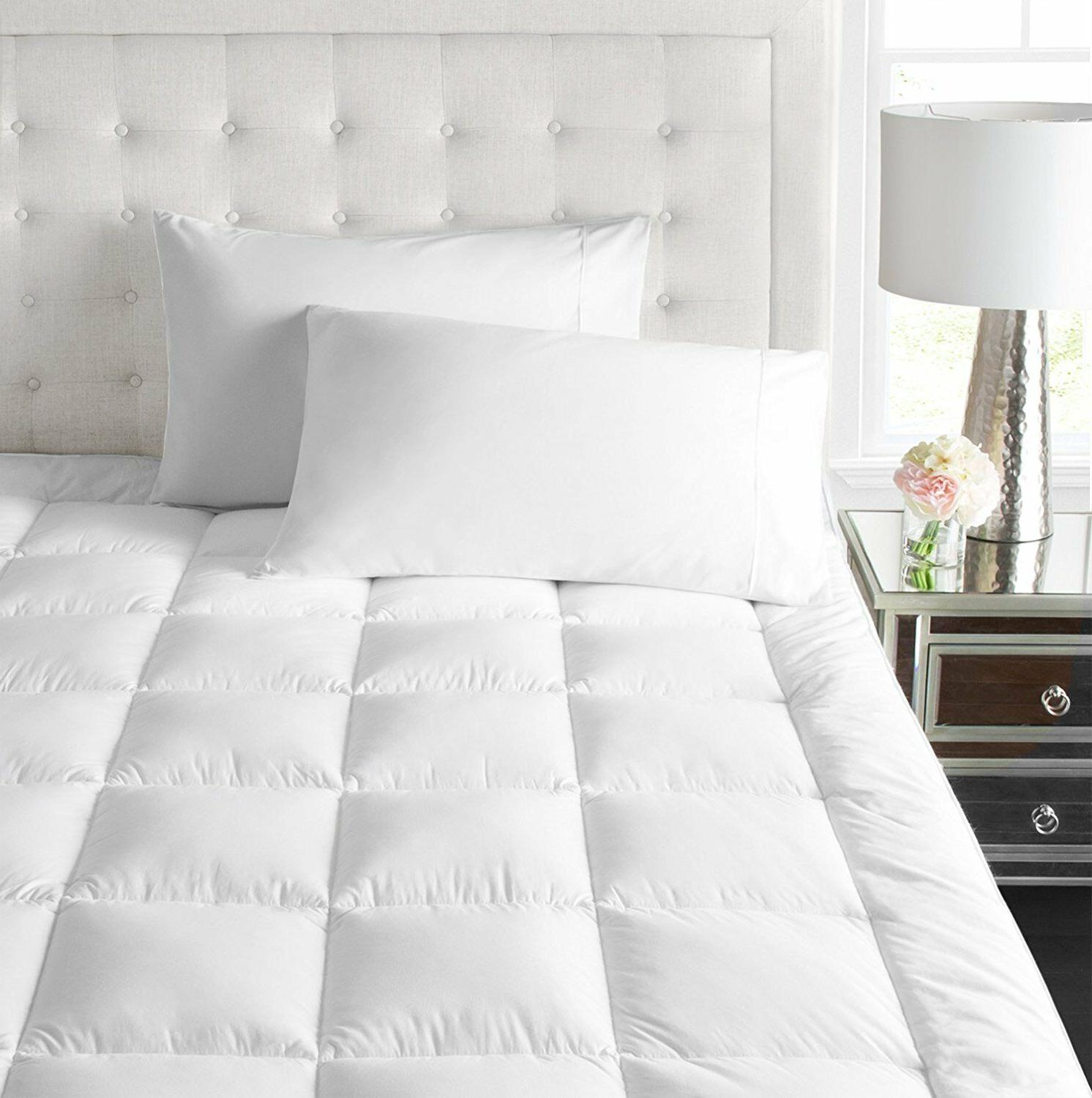 Bed topper mattress down alternative feather bed bed pad bed