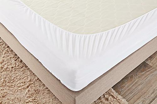 PUREDOWN Mattress Pad/Topper, Fitted, 100% Bottom,