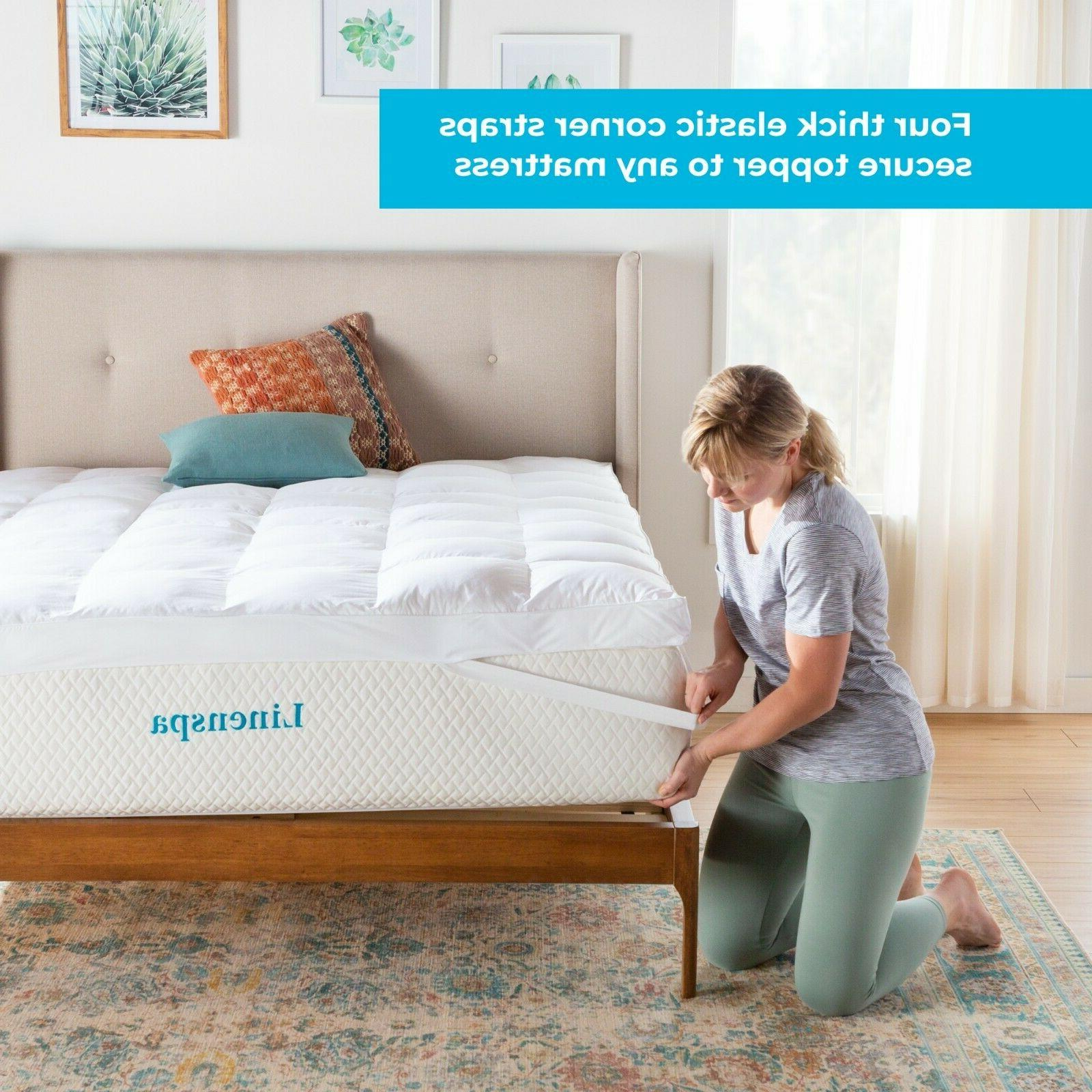 Linenspa Essentials 3 Inch Down Alternative Mattress Topper