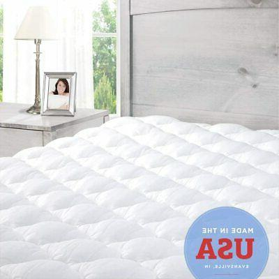 Extra Plush Fitted Mattress Topper, Full