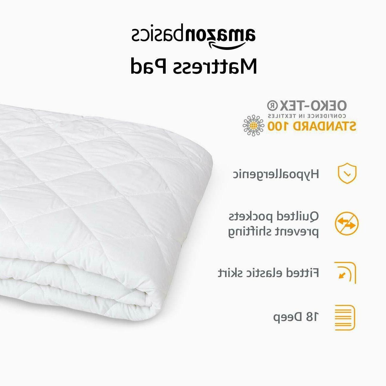 Full Size Hypoallergenic Quilted Mattress Topper White