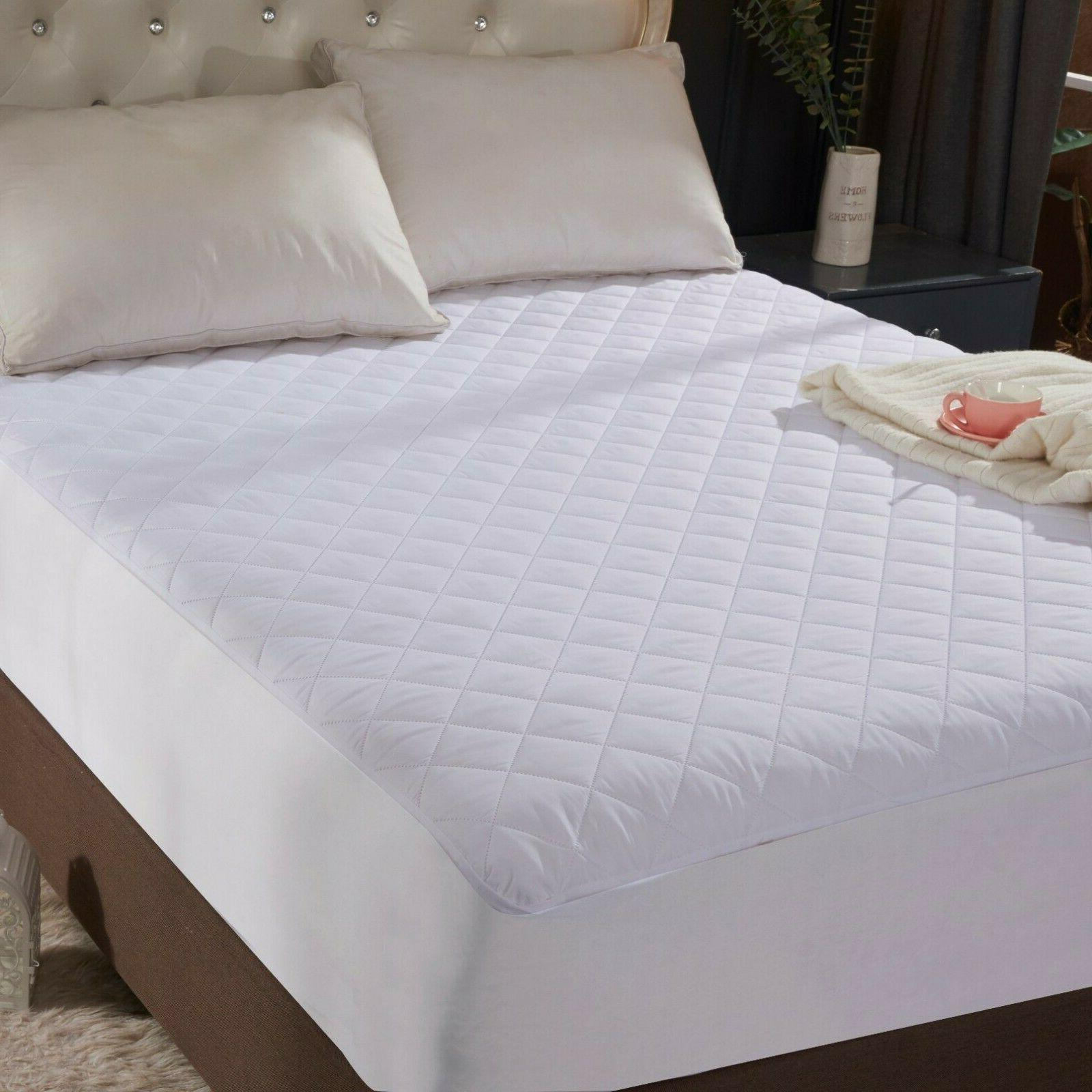 queen size quilted mattress protector pad topper