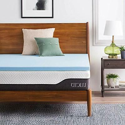 lucid 2 mattress toppers inch gel infused
