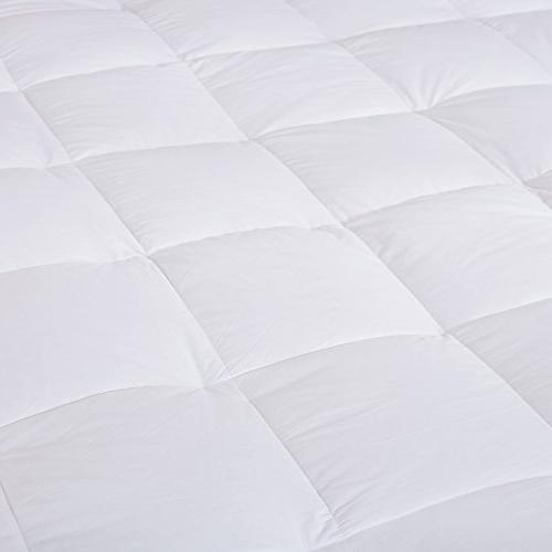 puredown Goose Down Feather Overfilled Mattress Bed 100% Cotton Twin