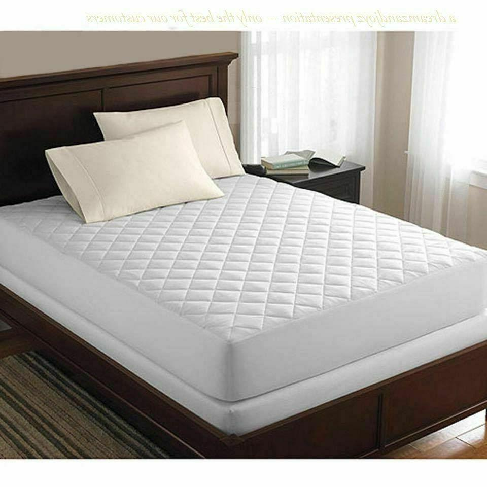 Luxury Quilted Mattress Protector Topper Bed Cover Fitted Sh