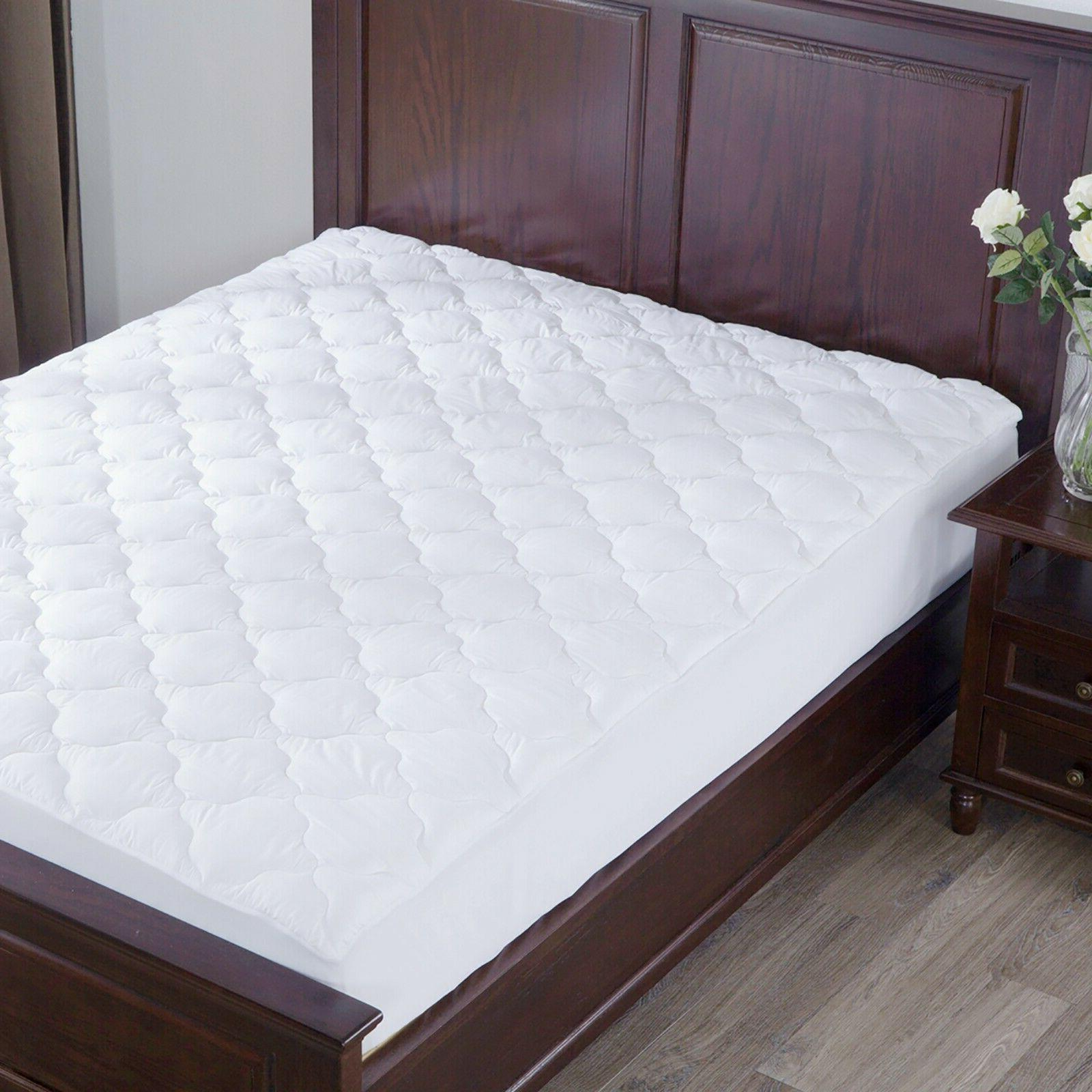 pillow topper quilted mattress cover pad protector