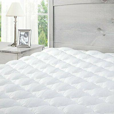 mattress pad with fitted skirt extra plush