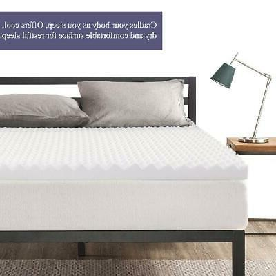 Mattress Topper Convoluted Egg Crate Breathable Foam