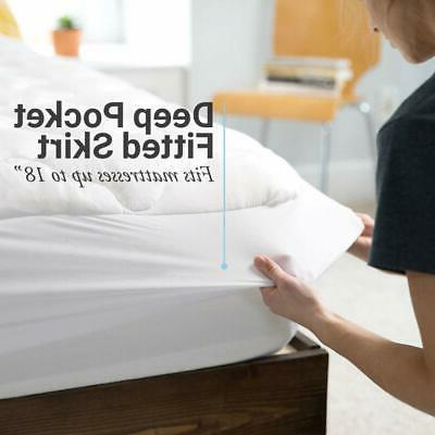 ExceptionalSheets Mattress with Fitted Skirt - Extra