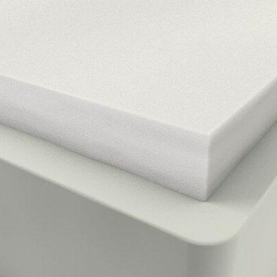 """2"""" KING SIZE COMFORT SELECT 2.5 FIRM FOAM MATTRESS PAD, BED"""