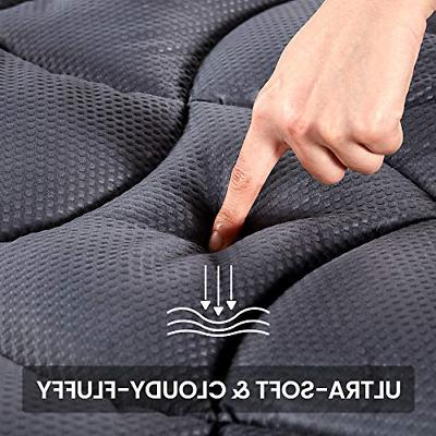 Twin Mattress Pad Cover Memory Foam Top Cooling Overfilled Topper