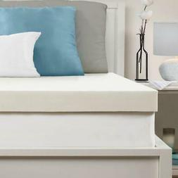 Memory Foam Mattress Topper 3 Inch Queen Size Bed Removable