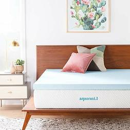 Memory Foam Mattress Topper Gel Infused 3 Inch Queen Size Co