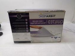 NEW THERAPEDIC 3 INCH QUILTED DELUXE MATTRESS BED TOPPER FUL