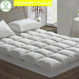 NEW LUXURY HOTEL EXTRA COMFORT SOFT GOOSE FEATHER & DOWN MAT