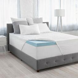 "Serta Calm 3"" Gel Memory Foam Mattress Topper Twin Full Quee"