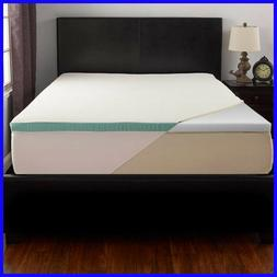 """Bliss Foam 2"""" Mattress Topper with Cool Touch Cover"""