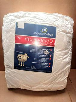 Serta Perfectsleeper Comfy Plush Mattress Cushion Pad Topper
