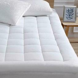 Pillow Top Mattress Cover Full Size Bed Topper Pad Soft Hypo