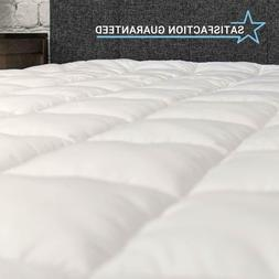 Premium Soft Microfiber Pillowtop Mattress Pad Cover Fitted