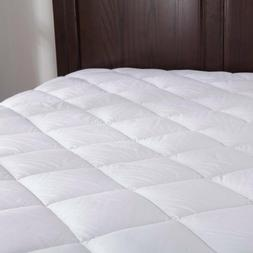 Puredown Down Alternative Mattress Pad/Topper-Fitted-Quilted