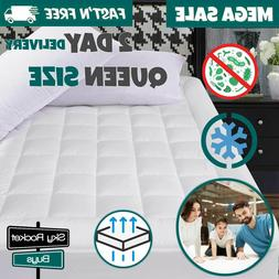 Queen Size Mattress Cover Pad Pillow Top Protector Snow Down