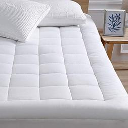 Queen Size Mattress Pad Cover Memory Foam Luxury Bed Pillow