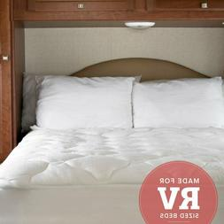 rv bed topper extra plush bamboo fitted
