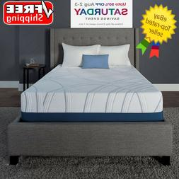 "Serta SleepToGo 12"" Gel Memory Foam Luxury Queen Mattress FR"