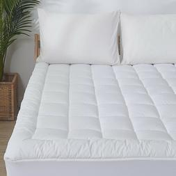 Waterproof Mattress Pad Cover Quilted Fitted Topper Protecto